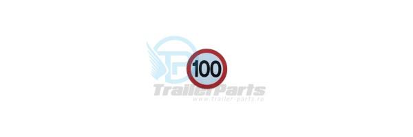 Autocolant 100 km