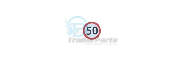 Autocolant 50 km