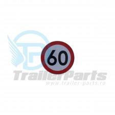 Autocolant 60 km
