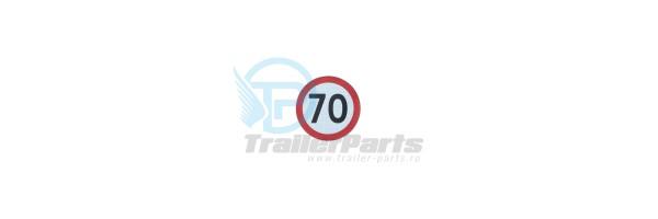 Autocolant 70 km